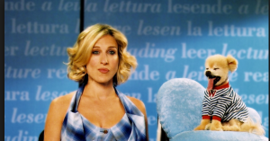 Carrie Bradshaw next to a talking dog was just one of many bad moments in season five.