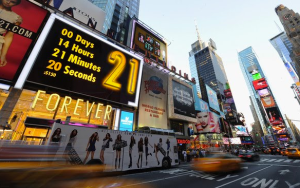 The ominous countdown to the opening of the Times Square location that tragically replaced Virgin.