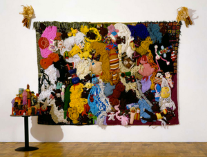 Mike Kelley, in the patchwork style of John Waters.