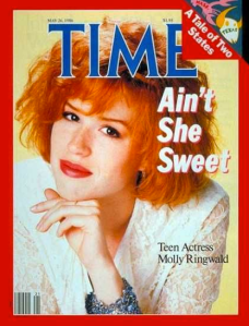 By 1986, Ringwald had arrived on TIME