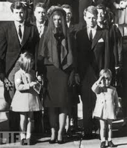 At Kennedy's funeral.
