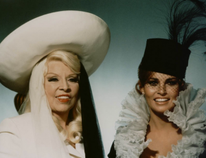 Mae West as Letitia Van Allen and Raquel Welch as Myra Breckinridge--the gay wet dream casting didn't quite work.