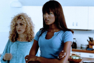 SJP and Naomi Campbell in MIami Rhapsody