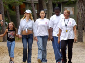 Britney at summer camp.