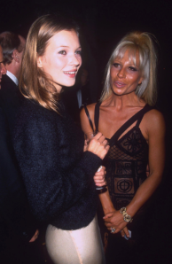 Not quite realizing her full Donatella potential with Kate Moss in 1993.